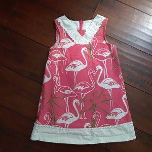 Gymboree girls Flamingo Sleevess dress sz 3 3T